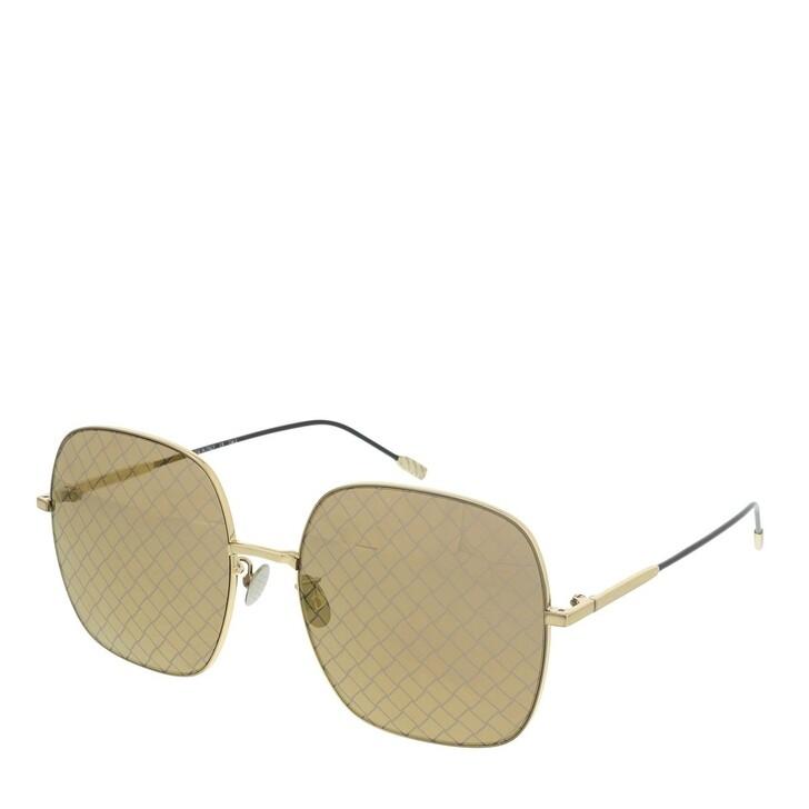 Sonnenbrille, Bottega Veneta, BV0202S-003 58 Sunglass WOMAN METAL GOLD