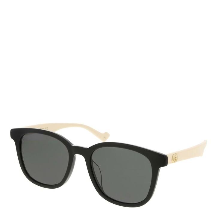 sunglasses, Gucci, GG1001SK-003 55 Sunglass Woman Acetate Black-White-Grey