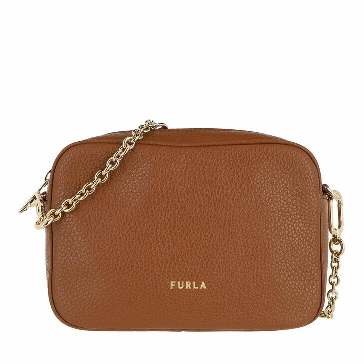 bags, Furla, Furla Real Mini Camera Case - Vitello St.Eracle Cognac H