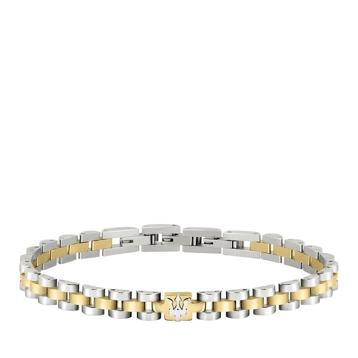 Armreif, Maserati, Bracelet Ip Yg +ss Logo 210mm Yellow Gold