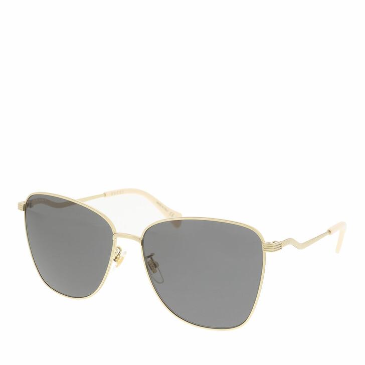 Sonnenbrille, Gucci, GG0970S-001 60 Sunglass WOMAN METAL GOLD