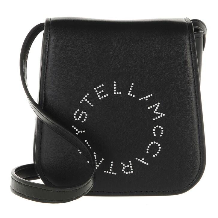 bags, Stella McCartney, Card Holder Bicolor Black