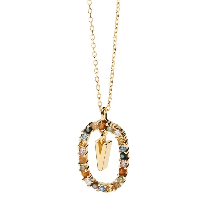 Kette, PDPAOLA, Necklace Letter V Yellow Gold