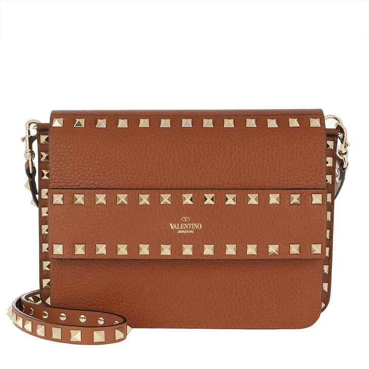 Handtasche, Valentino Garavani, Rockstud Shoulder Bag Leather Selleria