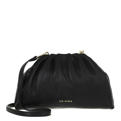 ted baker -  Clutches - Dorieen Mini Gathered Slouchy Clutch - in schwarz - für Damen