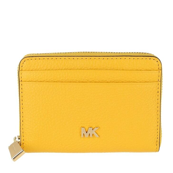 Geldbörse, MICHAEL Michael Kors, Zip Around Coin Card Case Sunflower