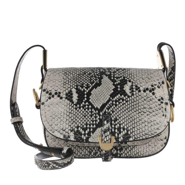 Handtasche, Coccinelle, Fauve Python Print Crossbody Leather Lambskin White