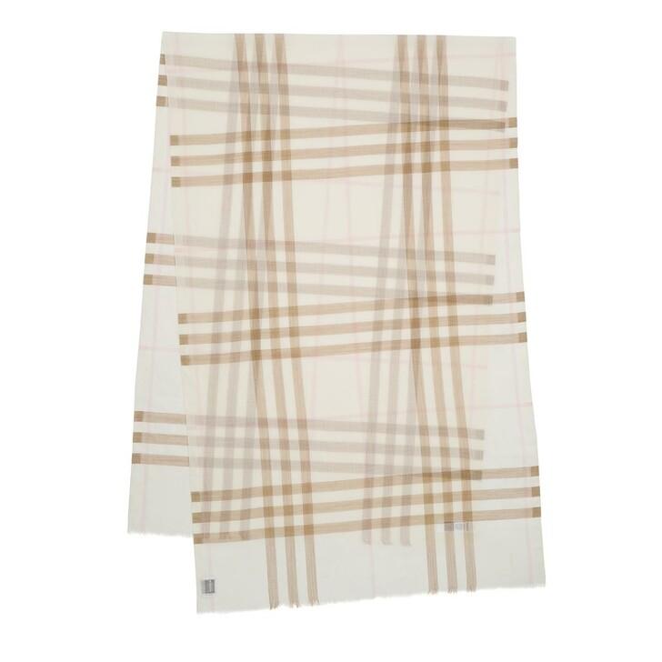 Schal, Burberry, Check Pattern Scarf White/Alabaste