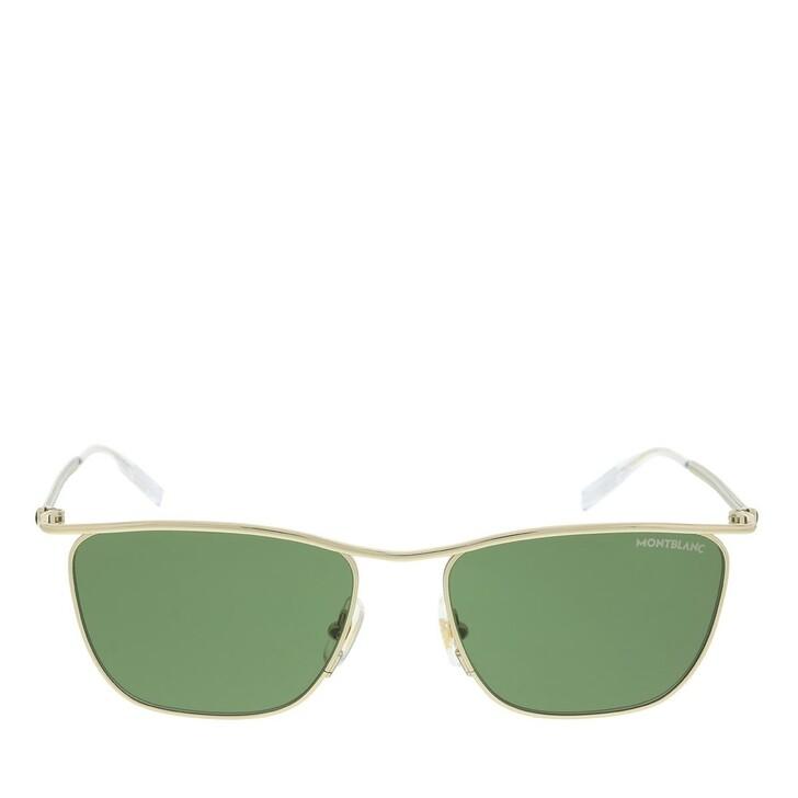Sonnenbrille, Montblanc, MB0167S-002 55 Sunglass MAN METAL GOLD