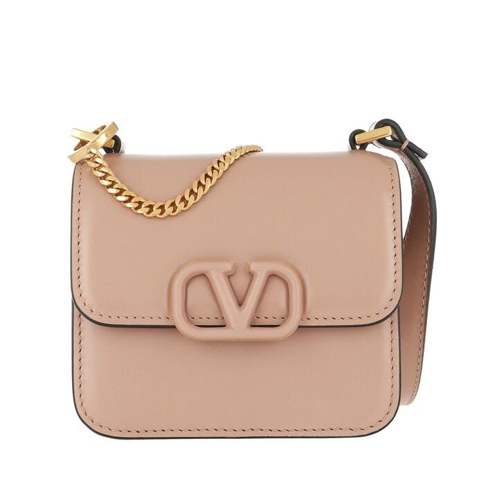 Handtasche, Valentino Garavani, VSLING Mini Crossbody Bag Calfskin Rose