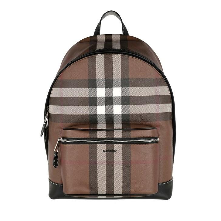 Reisetasche, Burberry, Tartan Checked Backpack Dark Birch Brown
