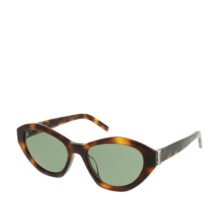 Sonnenbrille, Saint Laurent, SL M60-003 54 Sunglasses Havana-Havana-Green