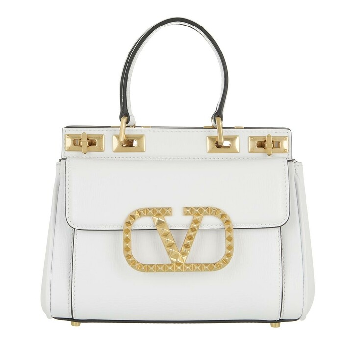 bags, Valentino Garavani, Mini Double Handle Bag White