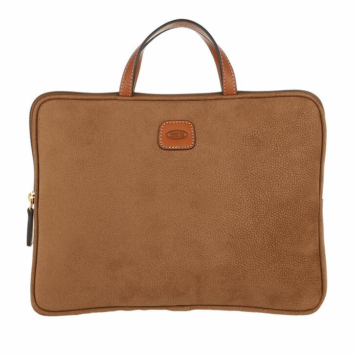 bags, Bric's, Life Laptop Bag Camel