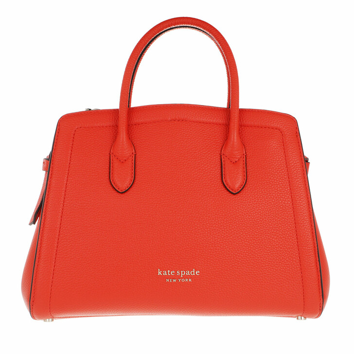 Handtasche, Kate Spade New York, Knott Medium Satchel  Tamarillo