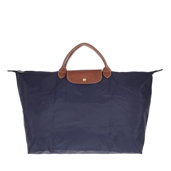 bags, Longchamp, Le Pliage Original Travelbag   Navy