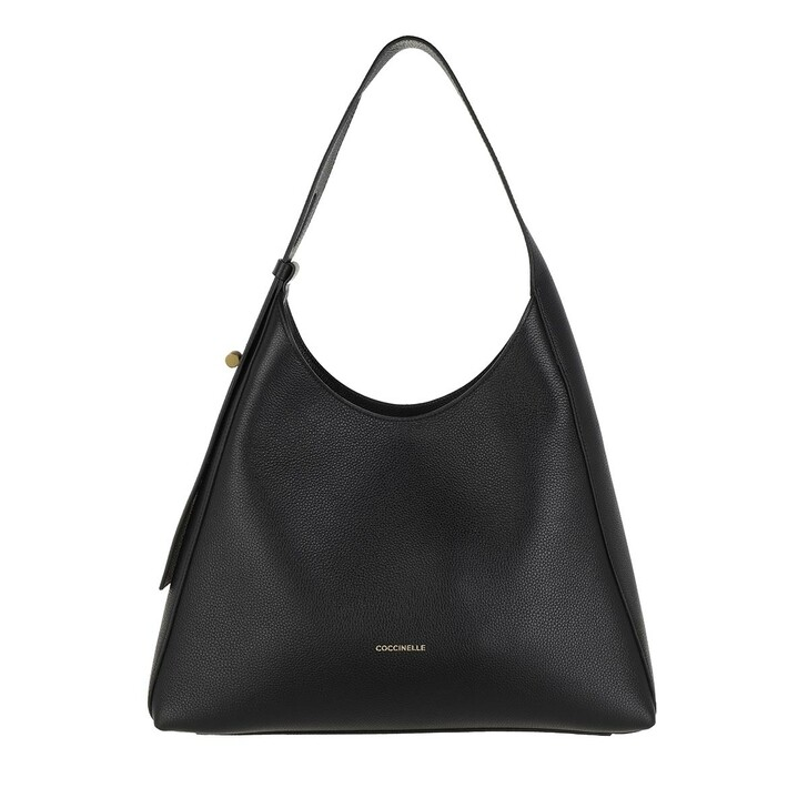 Handtasche, Coccinelle, Handbag Bottalatino Leather Noir