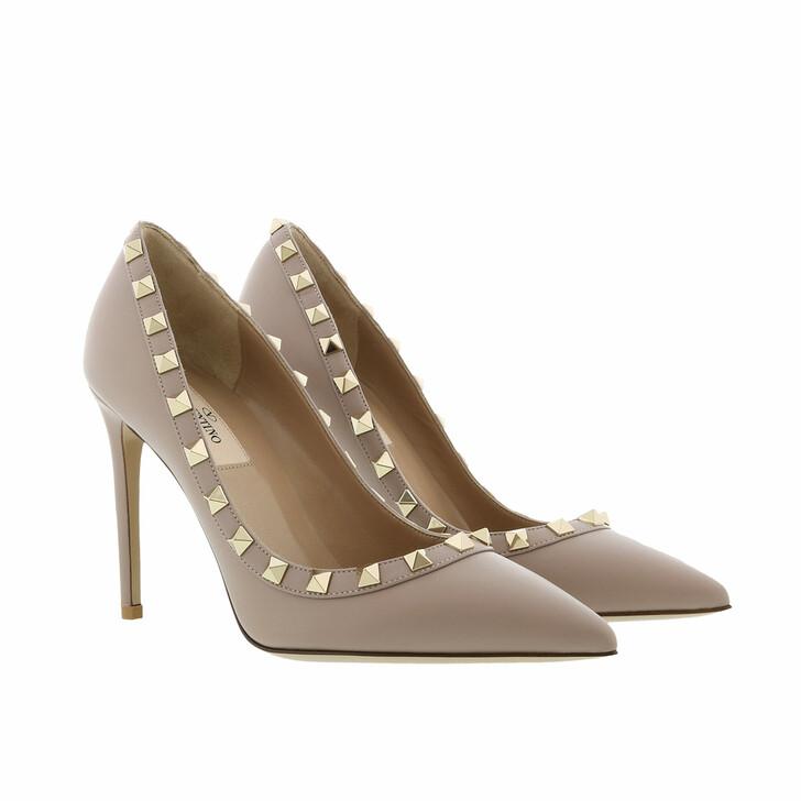 shoes, Valentino Garavani, Rockstud Pump 100 Poudre