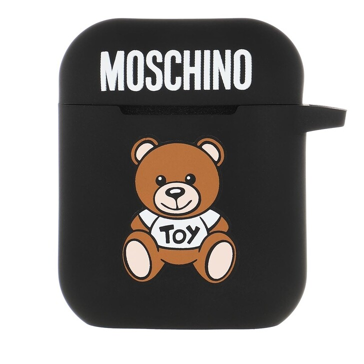 Smartphone/Tablet case (Case), Moschino, Airpods Case Silicone Toy Fantasia Black