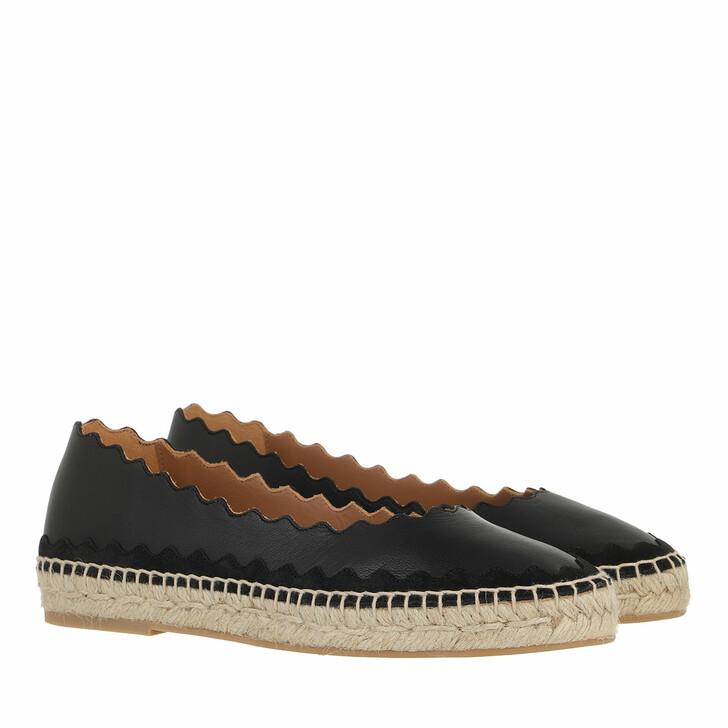Schuh, Chloé, Flat Ingrid Espadrilles  Nappa Leather Black