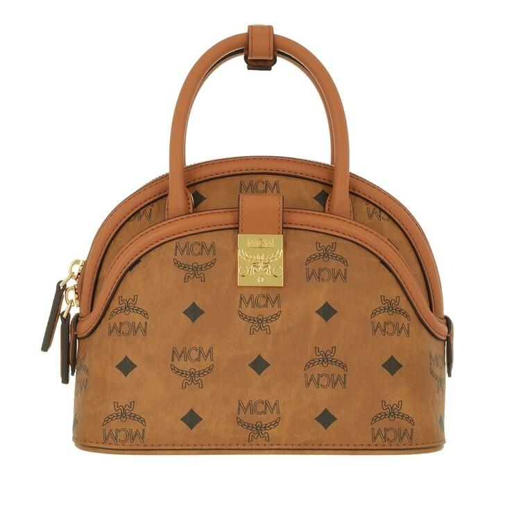 bags, MCM, Anna Visetos Tote Small  Cognac