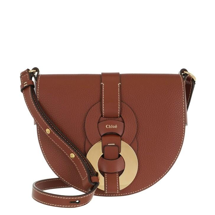 Handtasche, Chloé, Small Darryl Crossbody Bag Calfskin Sepia Brown