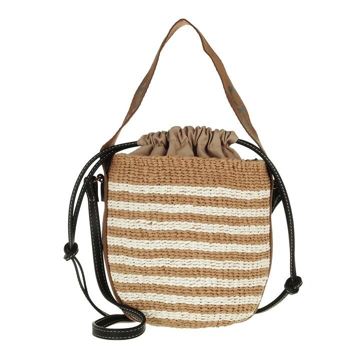 Handtasche, Chloé, Small Woody Basket Bag Brown