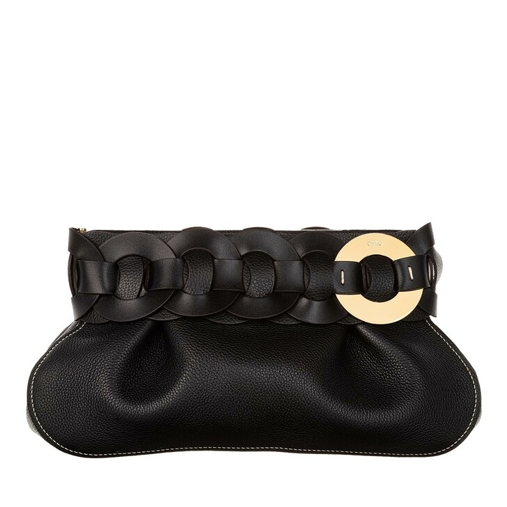Handtasche, Chloé, Darryl Clutch Leather Black
