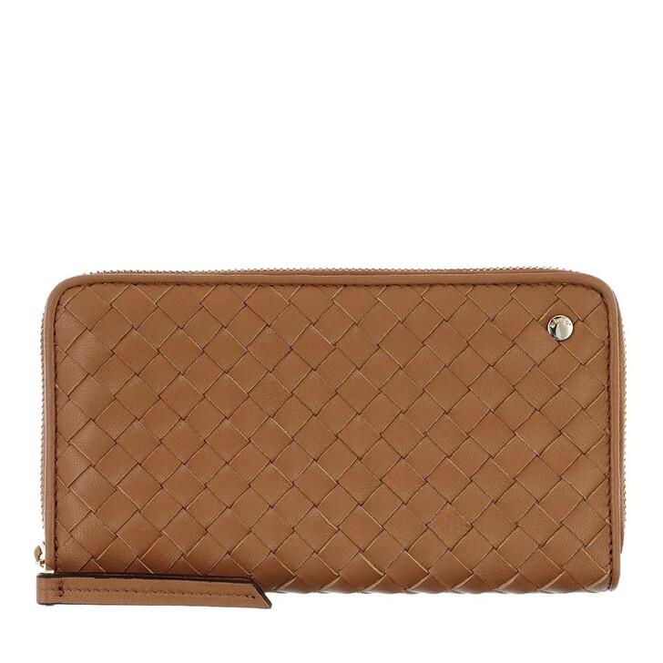 wallets, Abro, Piuma Wallet Weaving Leather Cuoio