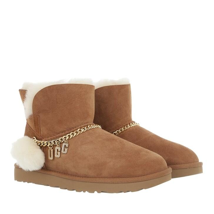 shoes, UGG, W Classic Ugg Charm Mini Chestnut
