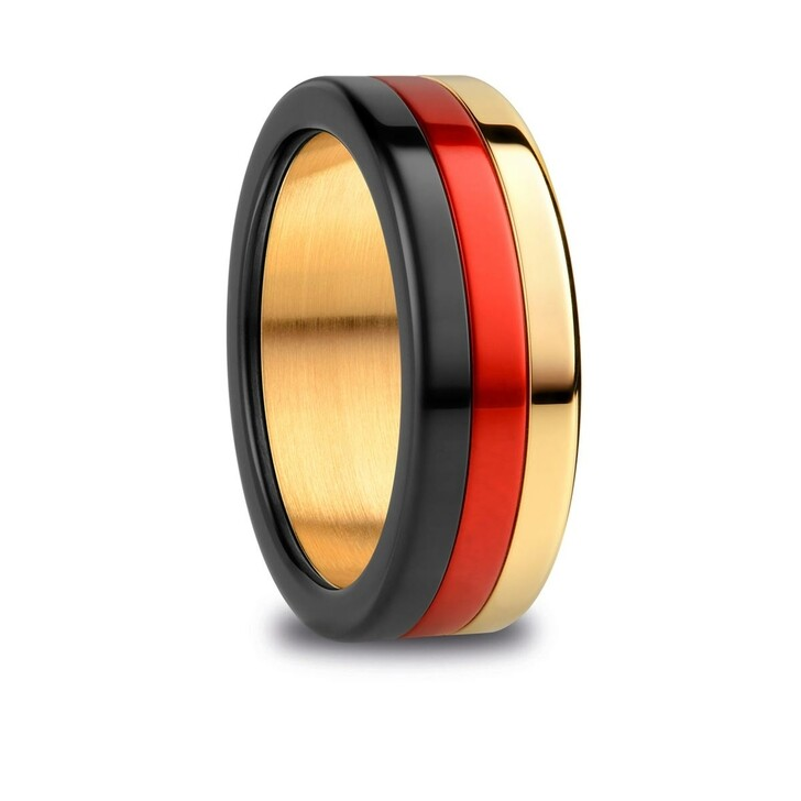 Ring, Bering, Arctic Symphony Ring  Black Red Gold
