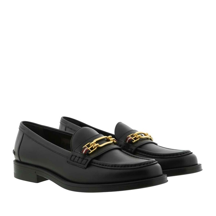 Schuh, Bally, Elodie Calf Flat Loafer Black
