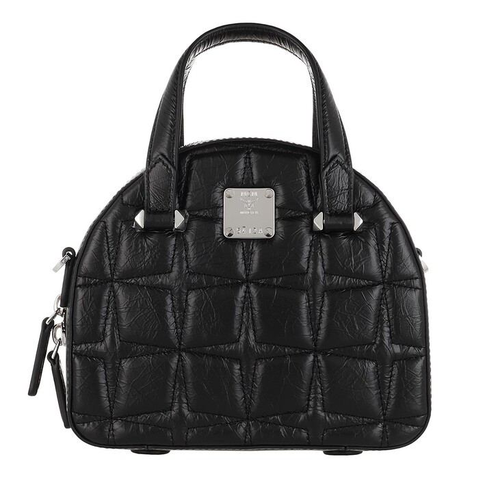 bags, MCM, Essential Quilted Diamond Tote Mini Black
