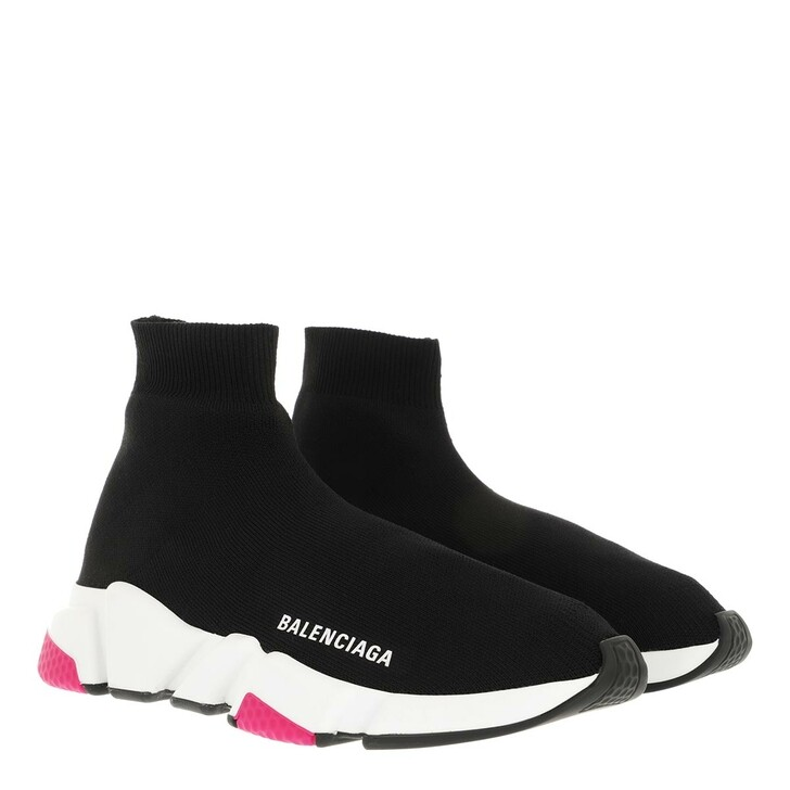 Schuh, Balenciaga, Speed LT Knit Sneaker Black/White/Magenta