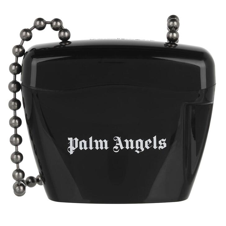 bags, Palm Angels, Mini Padlock Bag  Black White Black White