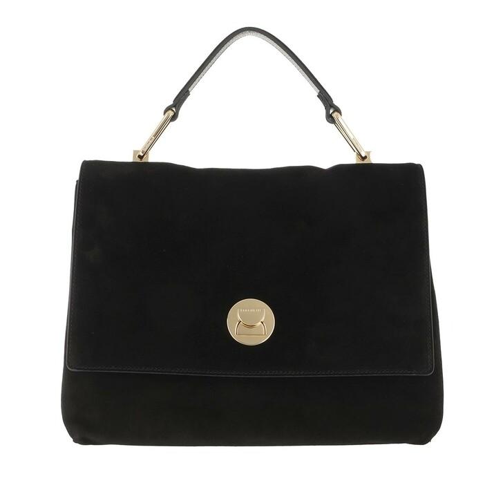 bags, Coccinelle, Liya Crossbody Leather Noir