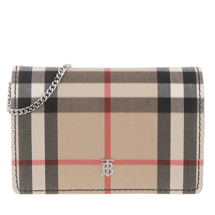 Handtasche, Burberry, Vintage Check Wallet On Chain Black