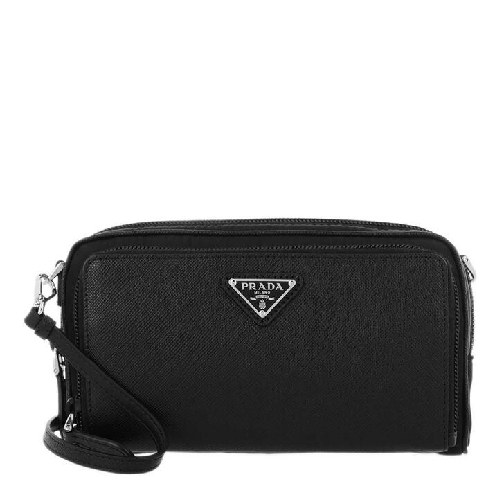 Handtasche, Prada, Crossbody Bag Saffiano Nylon Black