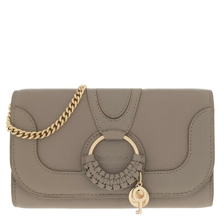 wallets, See By Chloé, Hana Wallet On Chain Motty Grey