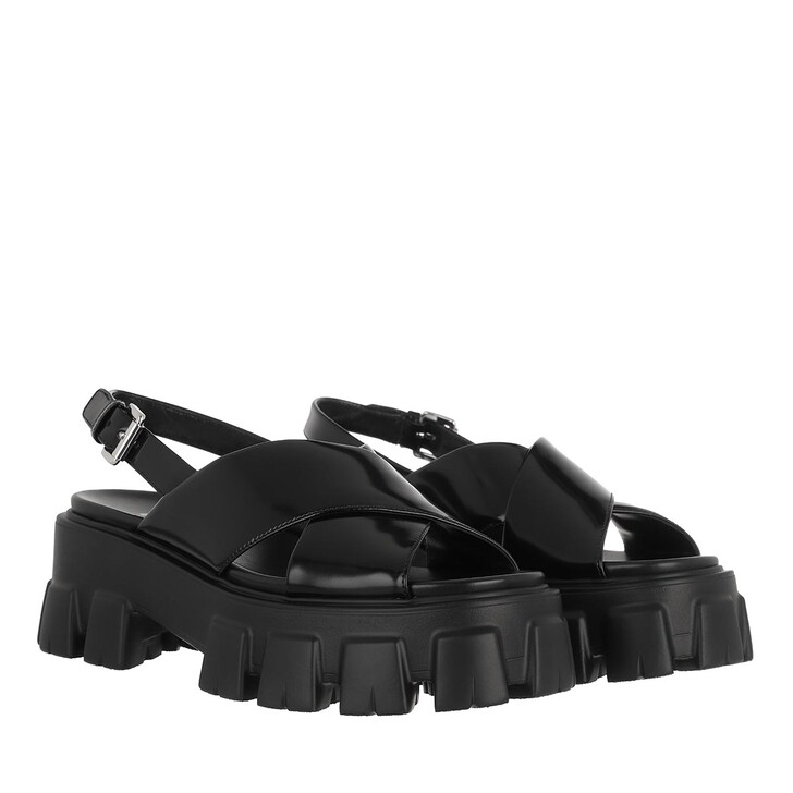 Schuh, Prada, Sandals Black