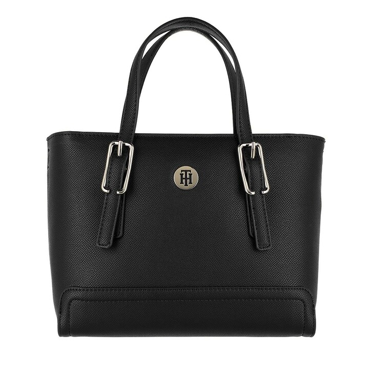Handtasche, Tommy Hilfiger, Honey Small Tote Bag Black