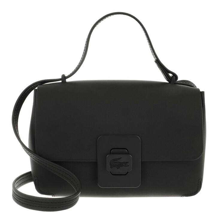 Handtasche, Lacoste, Croco Turn Shoulder Bag Noir