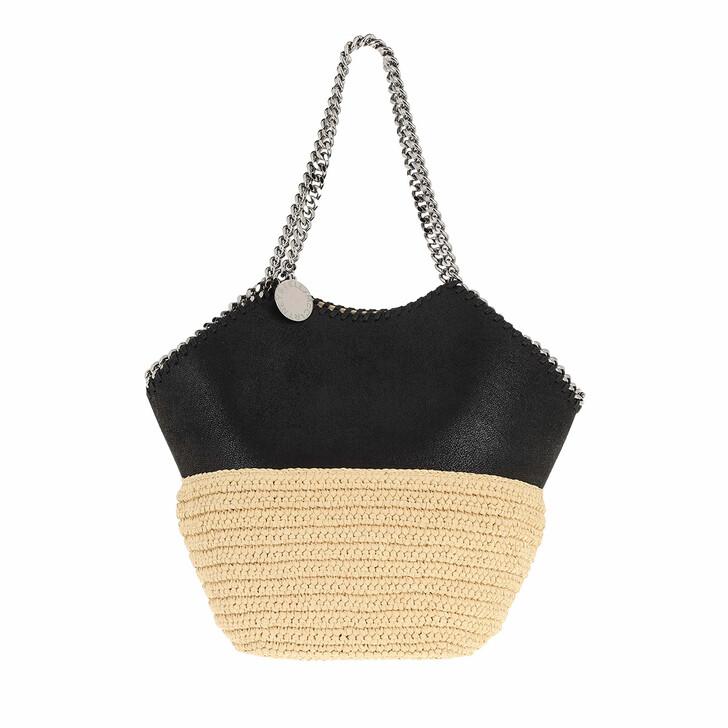 Handtasche, Stella McCartney, Falabella Raffia Medium Tote Black
