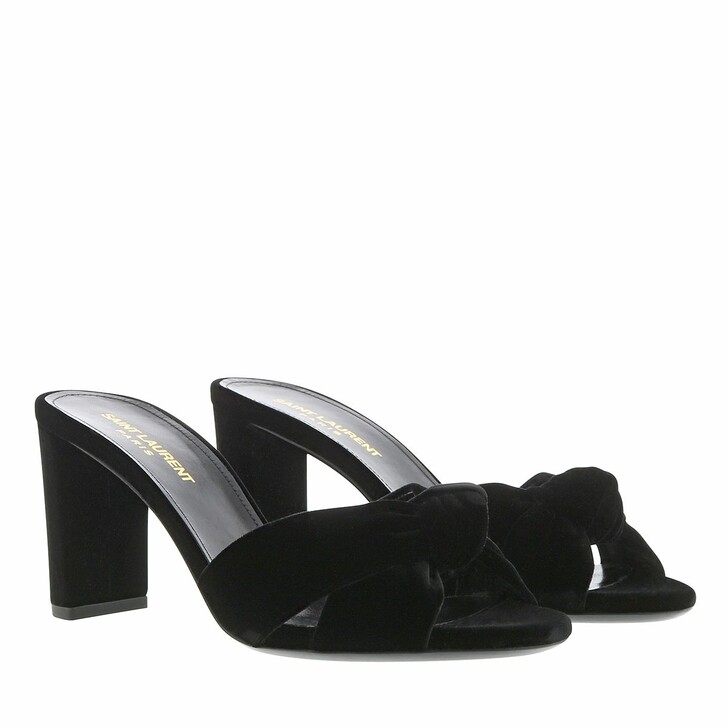 Schuh, Saint Laurent, Sandals Leather Black