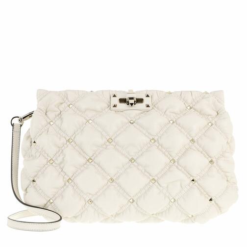 valentino garavani -  Clutches - Spike Me Clutch Nappa Leather Light Ivory - in beige - für Damen