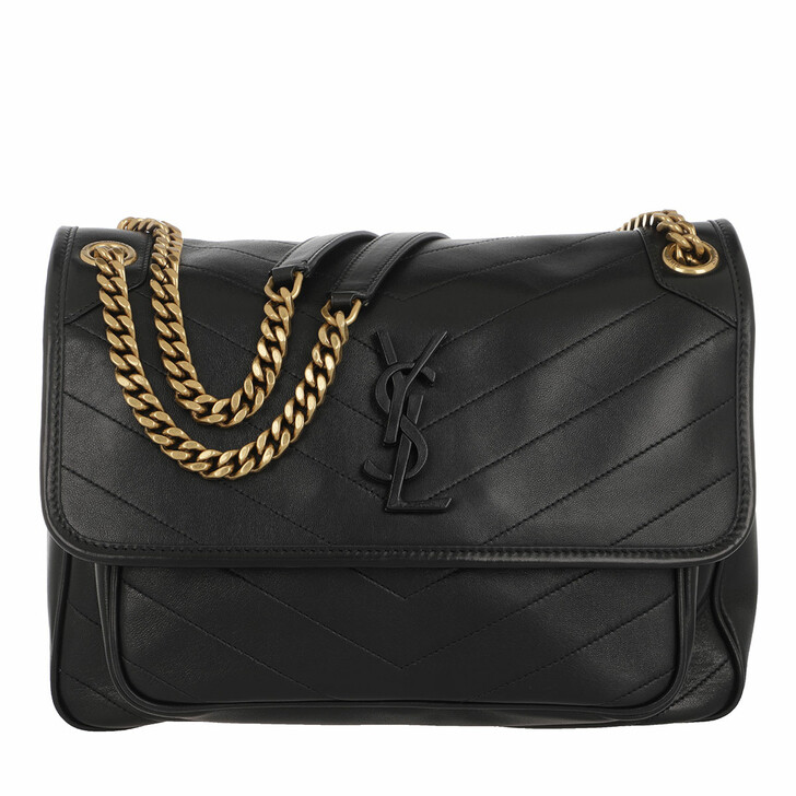 Handtasche, Saint Laurent, Niki Medium Shoulder Bag Leather Black