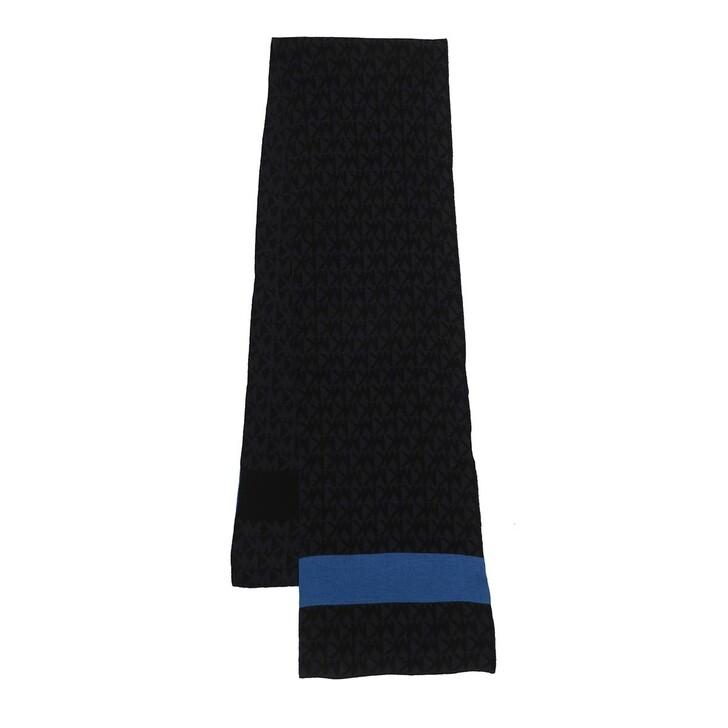 Schal, MICHAEL Michael Kors, Men Bold Stripe Logo Muffler Lt Navy