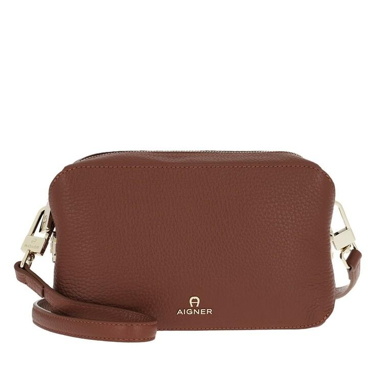Handtasche, AIGNER, Milano Crossbody Bag Cognac