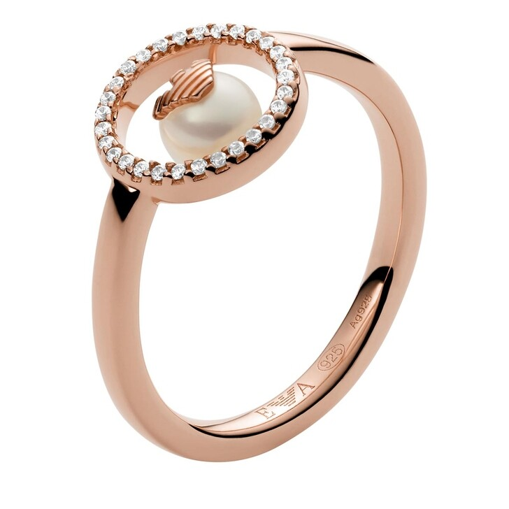 rings, Emporio Armani, Sterling Silver Ring Rose Gold