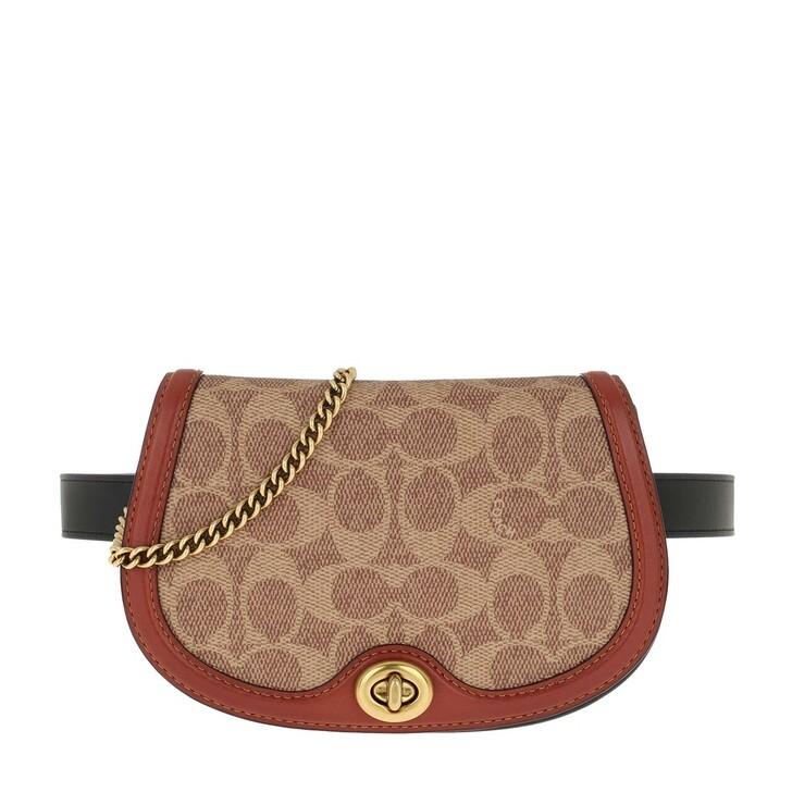 Handtasche, Coach, Colorblock Coated Canvas Belt Bag Beige